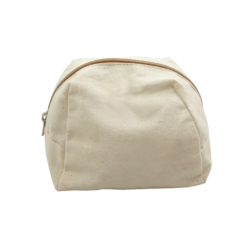 cotton cosmetic bag with zipper