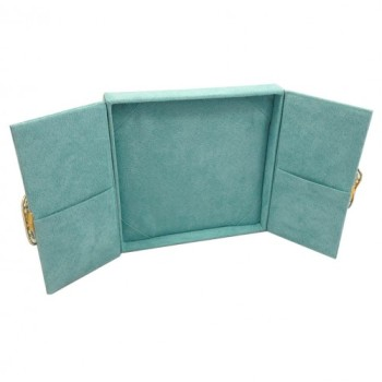 Suede gatefold wedding invitation box