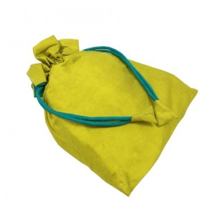 Taffeta silk drawstring bag