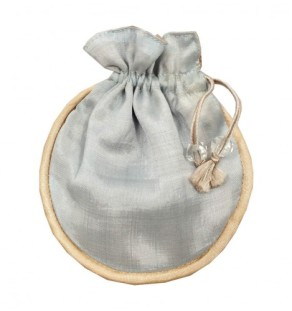 Silk wedding favor bag