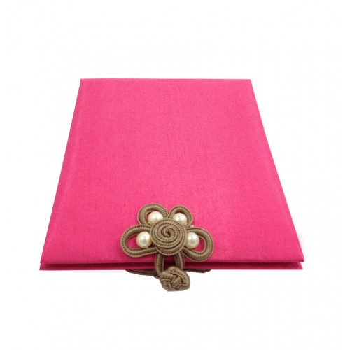 Wholesale fuchsia pink silk photo frame