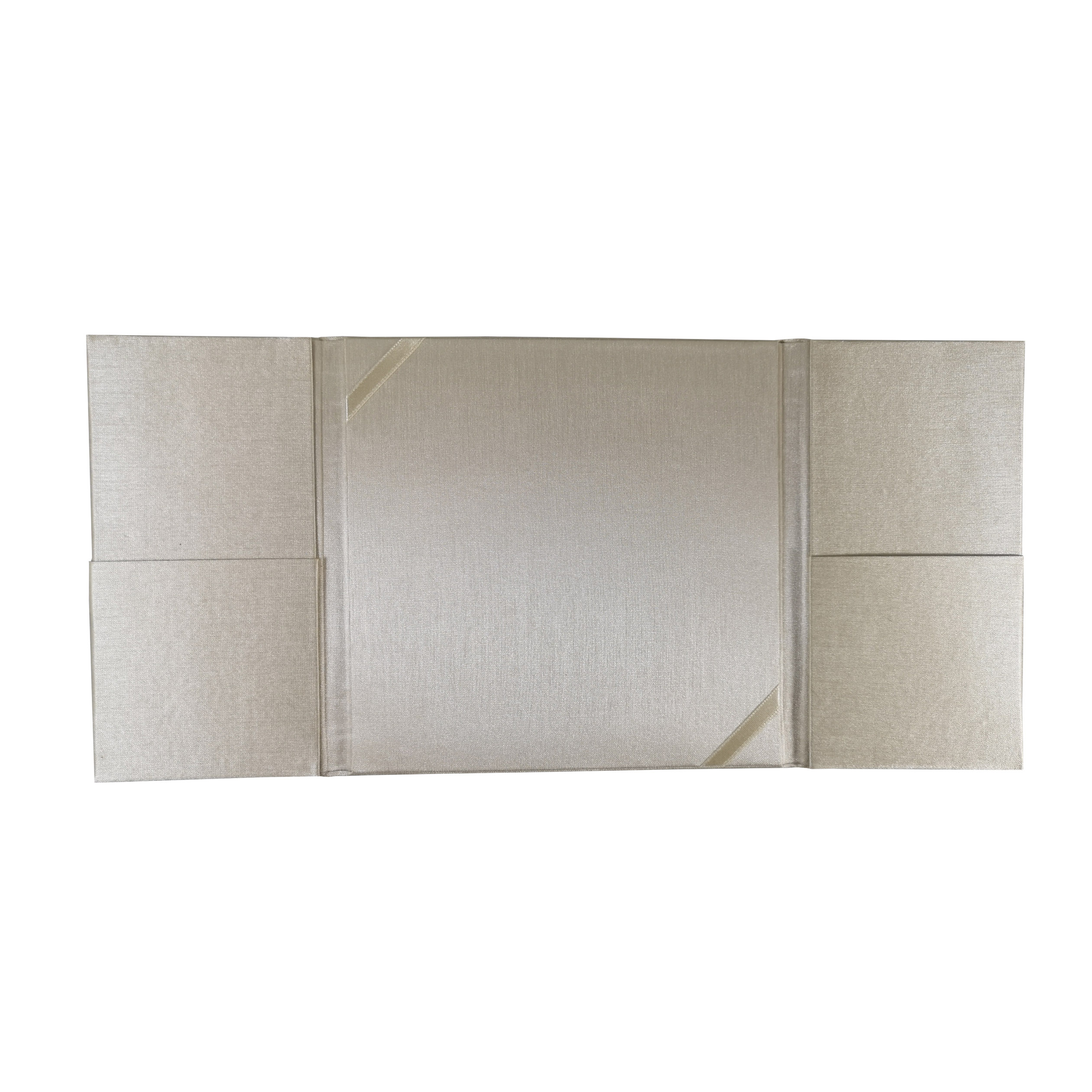 tri fold inviattion in cream