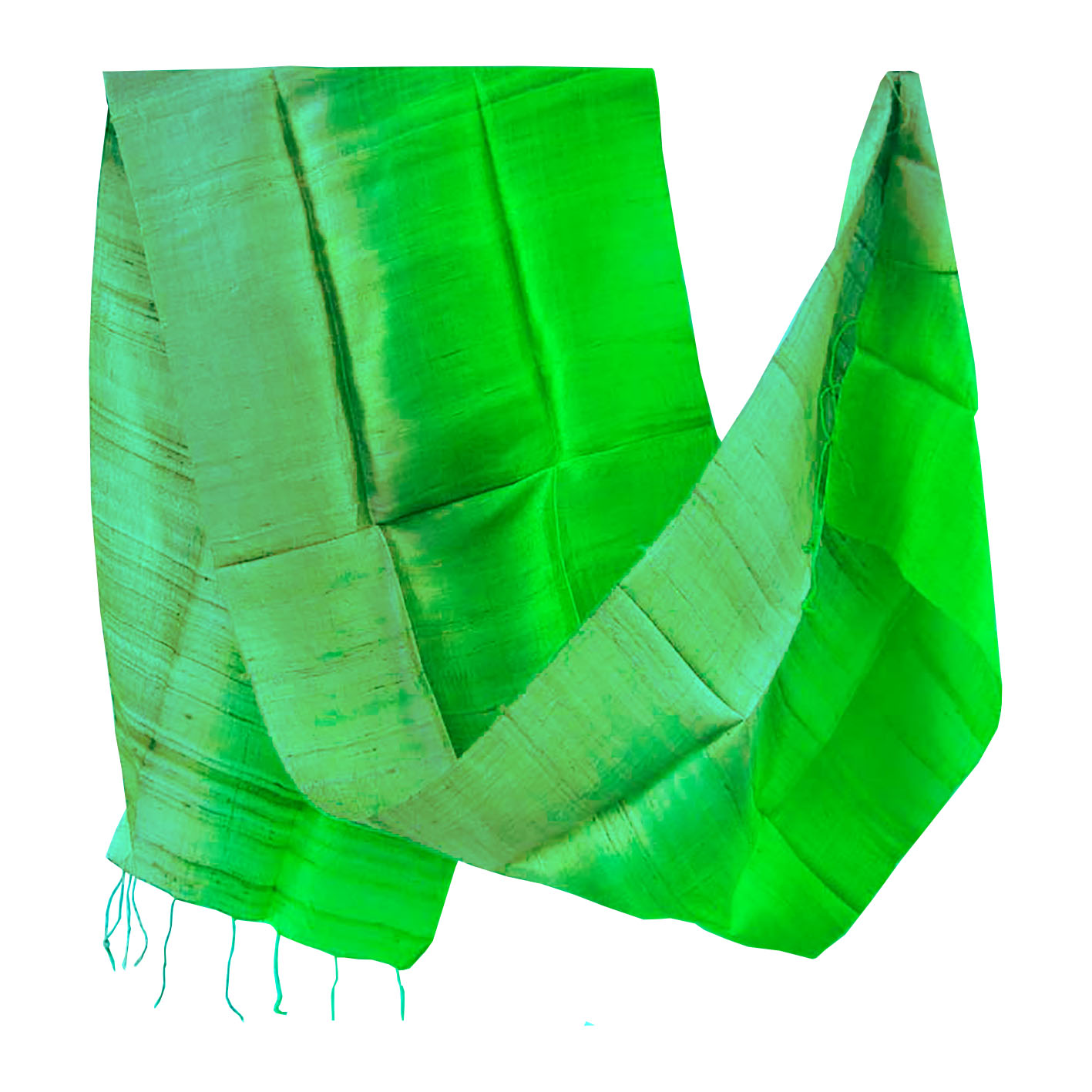 Two tone Thai silk scarf