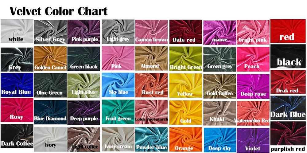 Velvet color chart