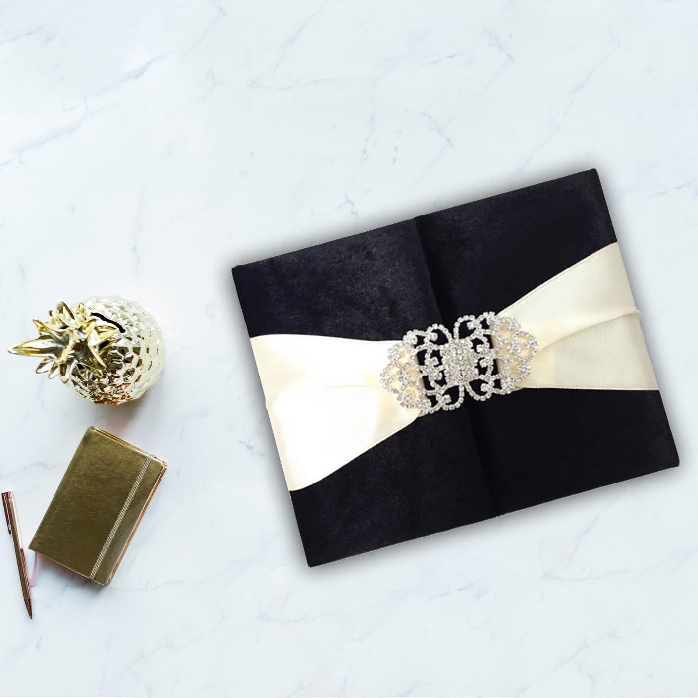 Luxury velvet wedding invitation creation