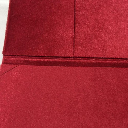Picture of pocket inside a velvet folder