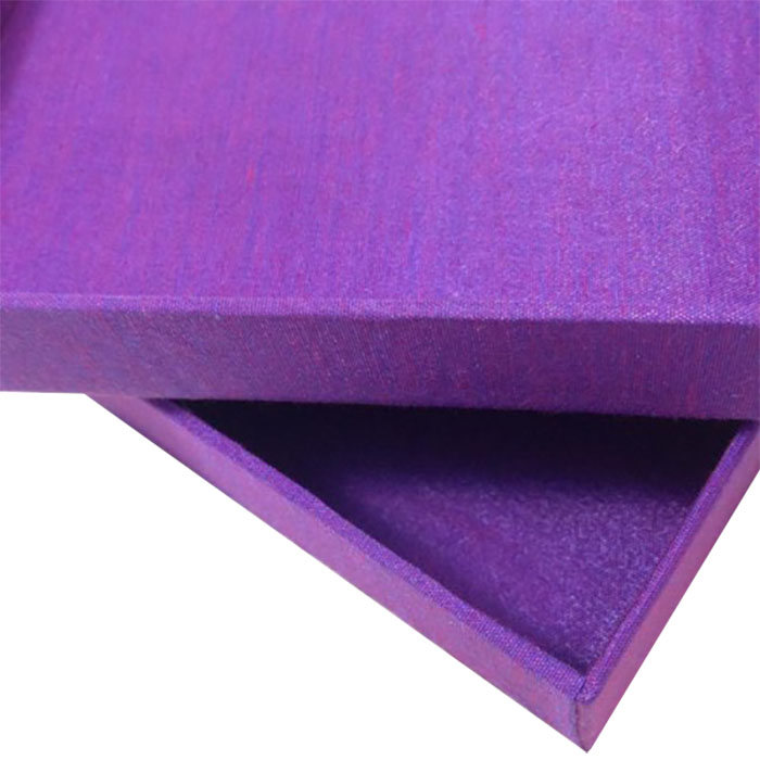violet silk box for gift, wedding and jewelry packaging