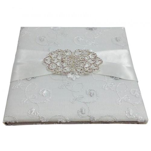 White lace invitations