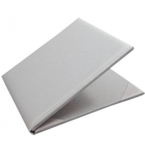 White silk folio