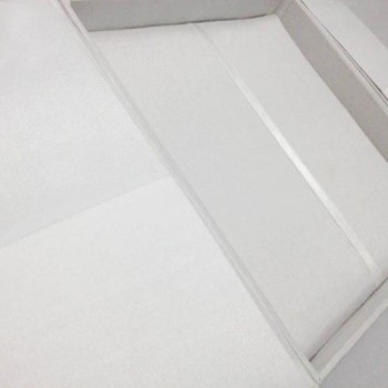 White wedding invitation boxes