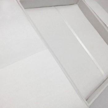 White wedding invitation boxes