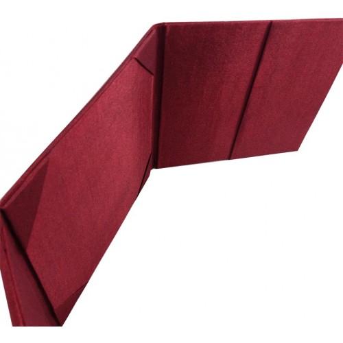 Pocket holder inside red silk invitation