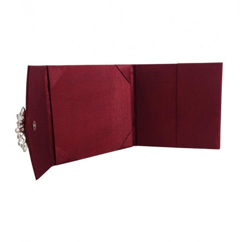Wine red silk envelope