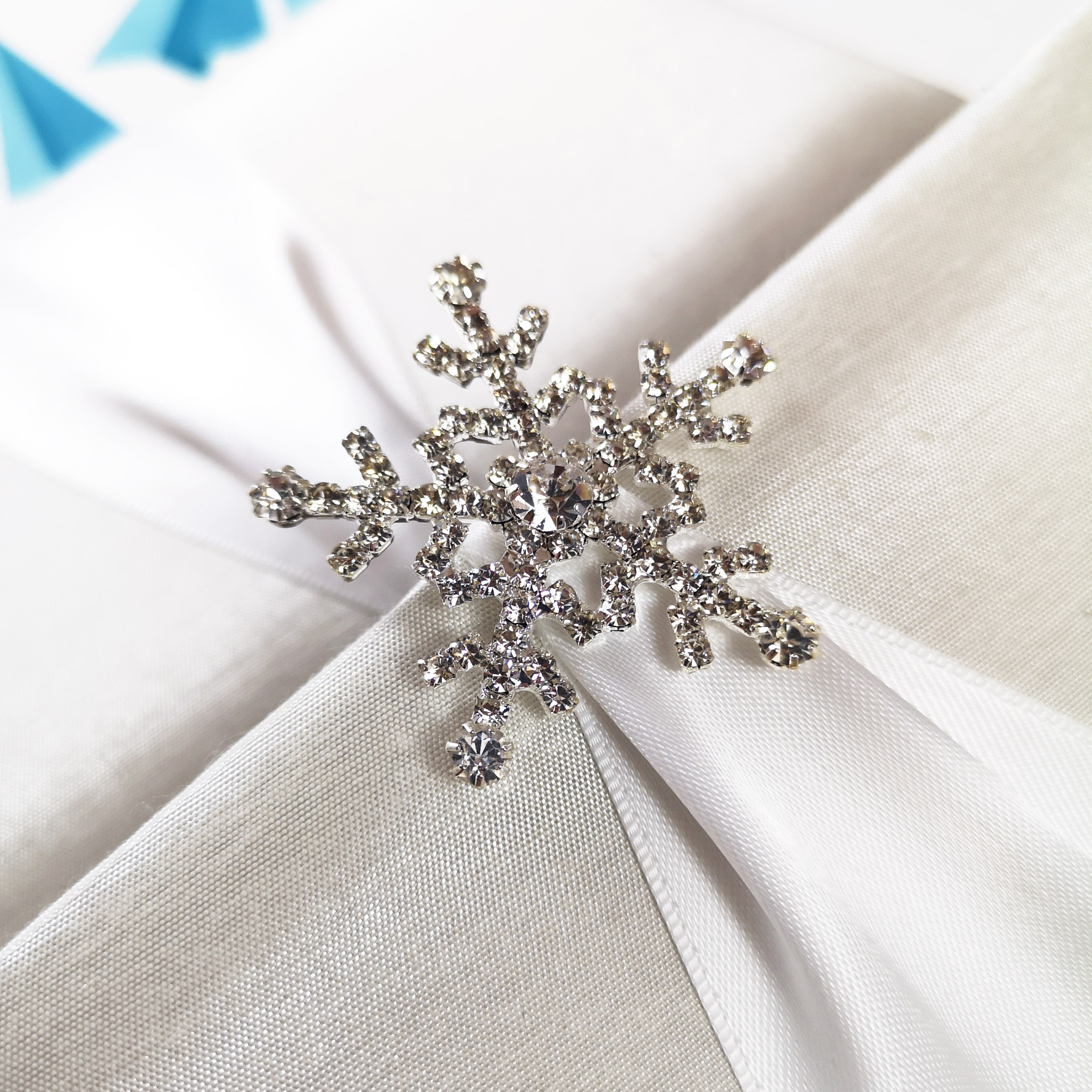 snowflake brooch for winter wedding