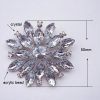 Star and snowflake brooch for winter wedding