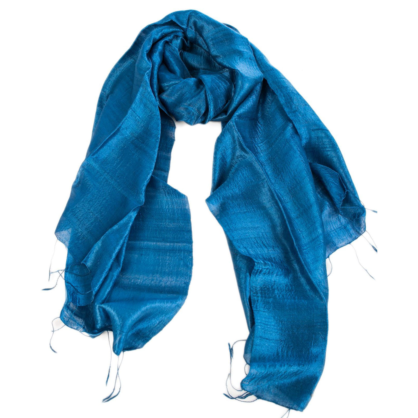 Blue Thai silk shawl
