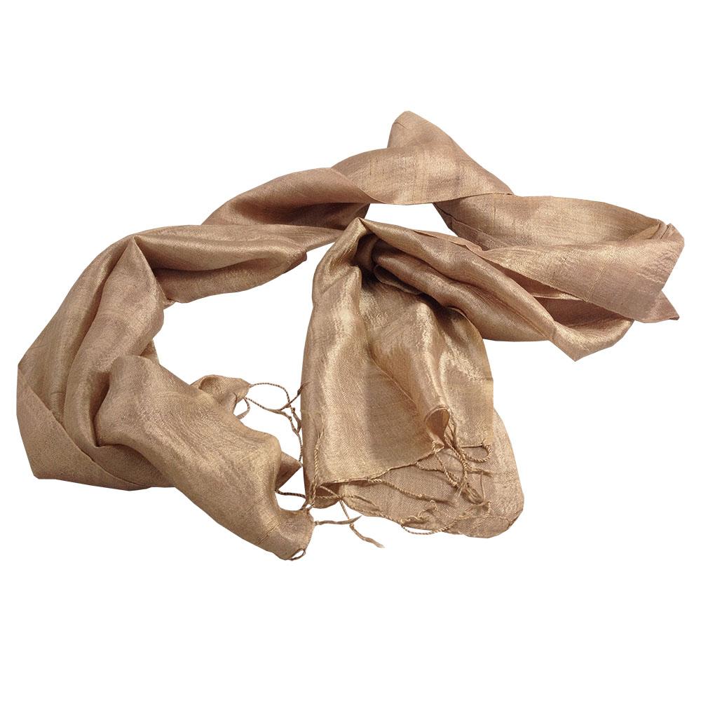 Brown Thai silk shawl