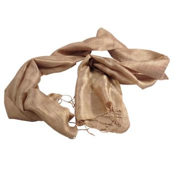 Brown Thai silk shawls