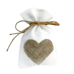 Cute Jute Wedding Favour Bag With Heart