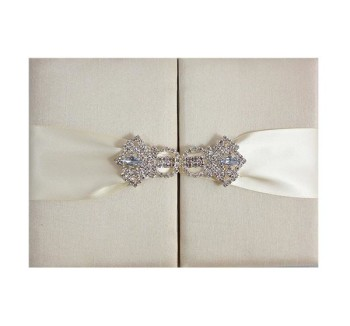 Dupioni silk wedding invitations