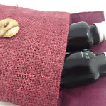 Detail picture of our hemp spa set bag