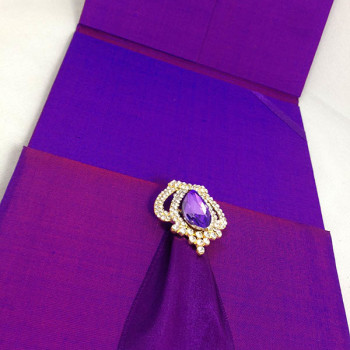 Hand-made purple silk folio