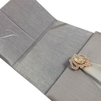 Luxury wedding invitation folio