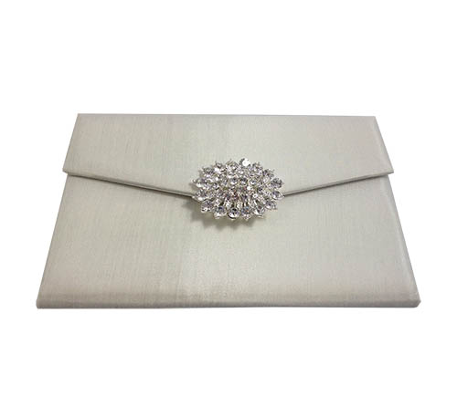 ivory clutch bag style wedding pouch for invitations