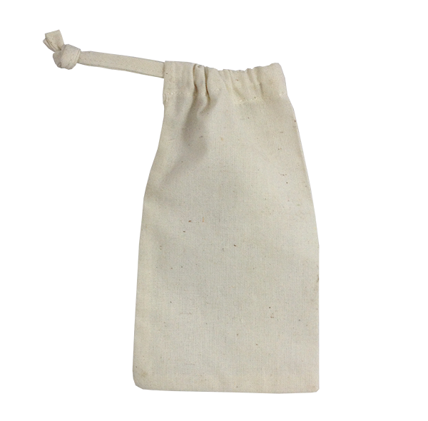small cotton drawstring bags