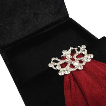 Velvet box for grand opening invitations