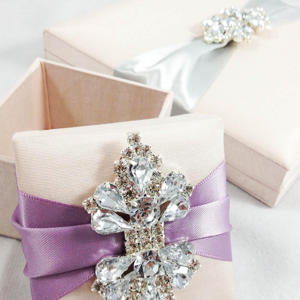 Blush Wedding Cake Gift Boxes