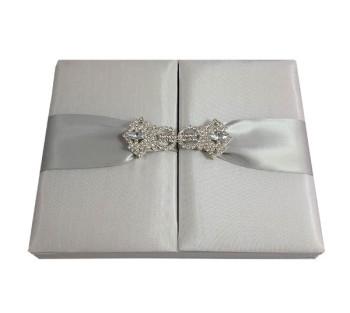 White wedding invitation box