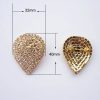Golden Diamond Wedding Brooches