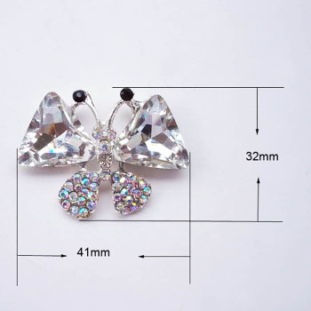Butterfly Diamond Brooch