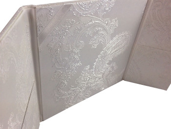Luxury brocade invitations