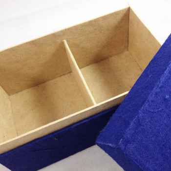 Blue mulberry paper box