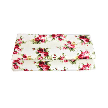Rose flower cotton clutch bags