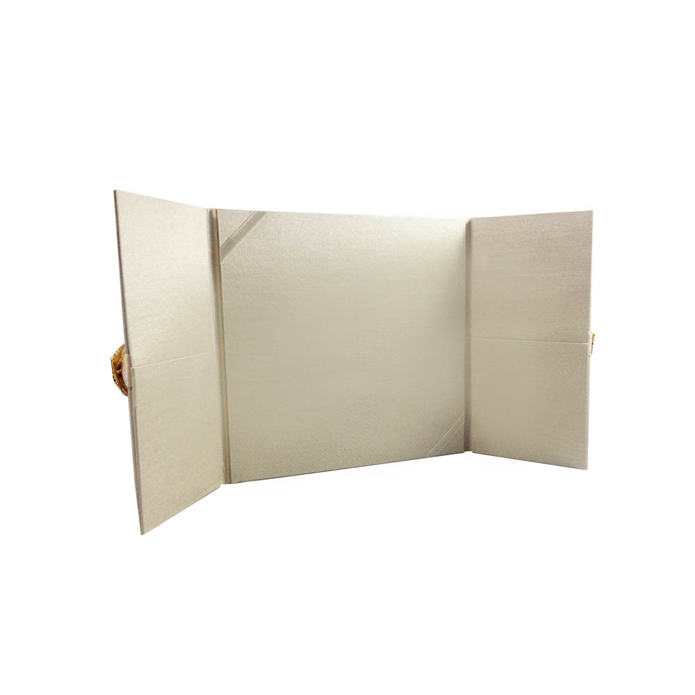 Wedding Invitation Folders With Pocket: Cream Wedding Invitation Folder