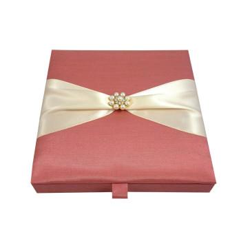 Dusty pink wedding invitation