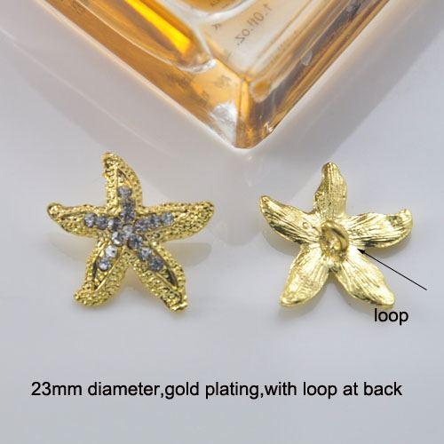 Golden Starfish Brooch