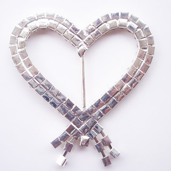 Heart buckle embellishment