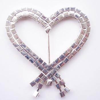 Heart buckle embellishment