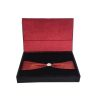 Velvet hinged lid wedding invitation box