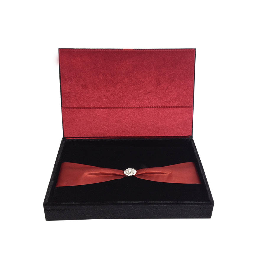 Velvet Hinged Lid Wedding Invitation Box - Boxed Wedding Invitations Wholesale | Welcome to ...