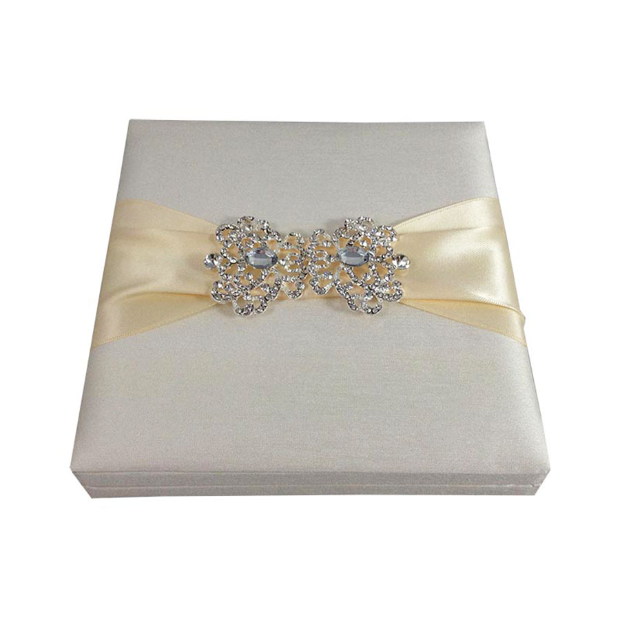 luxury embellished ivory wedding box
