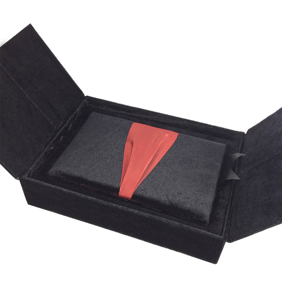 Black Amp Red Premium Gift Box Set Velvet Luxury Wedding