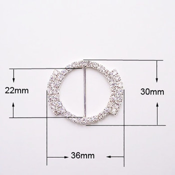 Luxury rhinestone buckle