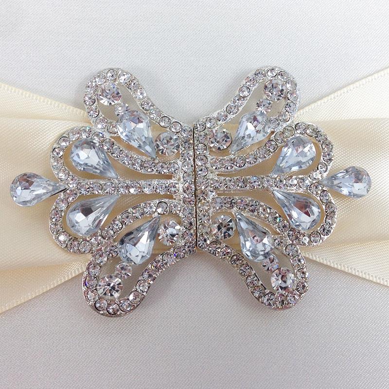 Diamond Rhinestone Wedding Embellishment Clasp For Boxed Invitations Folder