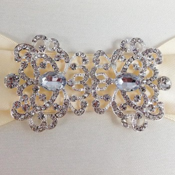 Crystal Clasp For Wedding Embellishments