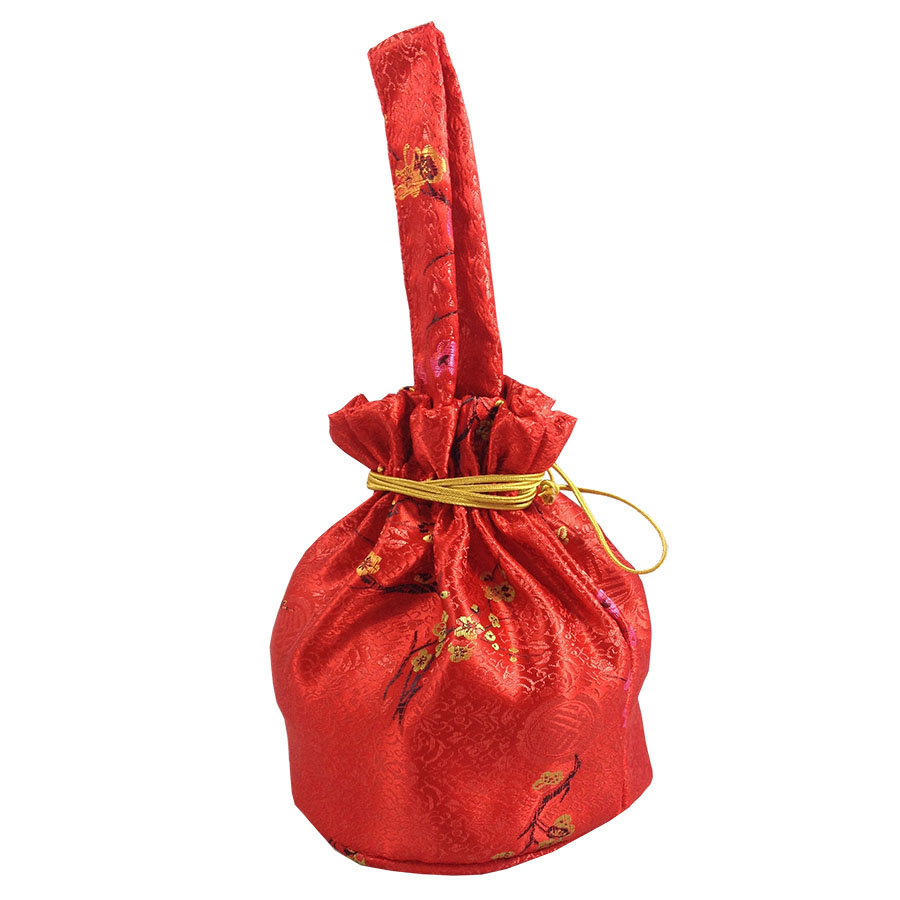 Top Chinese New Year Red & Gold Silk Gift Bags & Pouches - Luxury  OK79